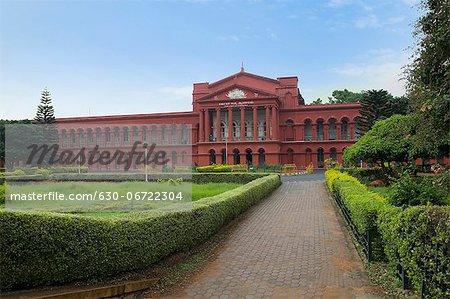Facade of a courthouse, Karnataka High Court, Bangalore, Karnataka, India