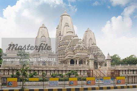 Facade of a temple, Birla Temple, Kolkata, West Bengal, India