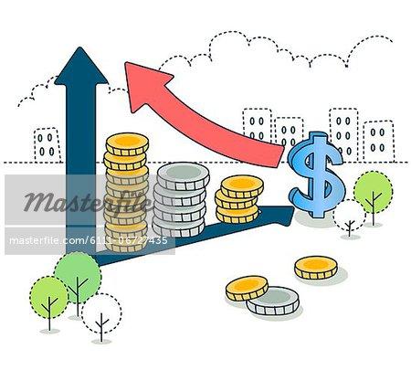 Illustration of business profit