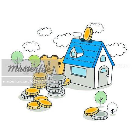 Illustration of home finance