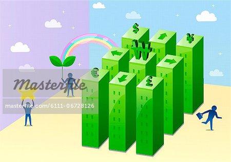 Illustration of currency symbol