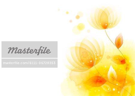 Illustration of abstract yellow lotus