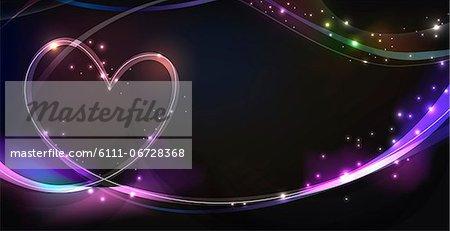 Illuminated heart shape image
