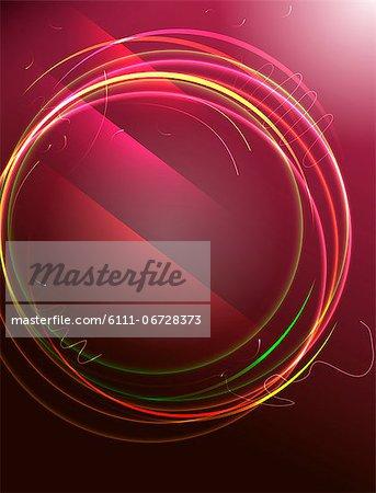 Illustration of multi colored circle
