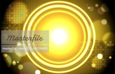 Abstract image of yellow circle