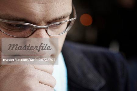 Portrait of Man thinking