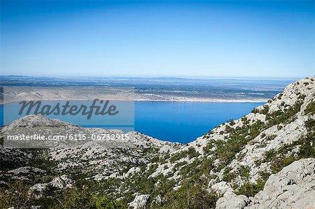 Croatia, Paklenica, View across Pag Island