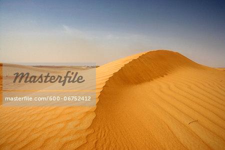 Sand Dune and Sky, Dubai, United Arab Emirates