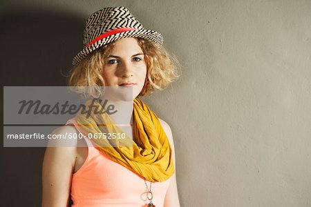 Head and Shoulders Portrait of Teenage Girl, Studio Shot