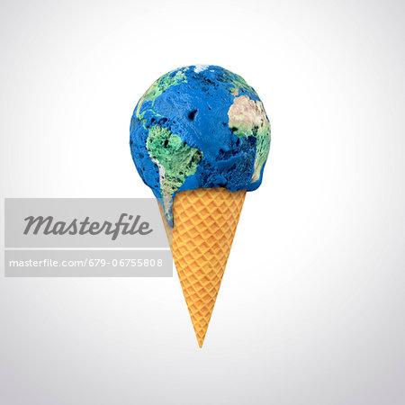 Global warming, conceptual computer artwork.