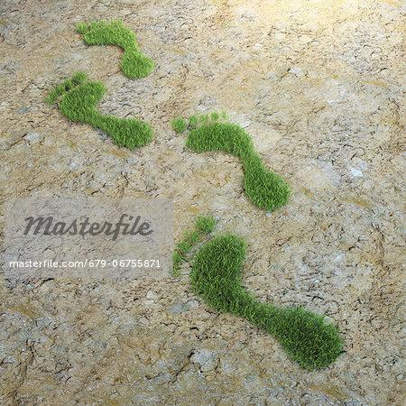 Environmental footprint, conceptual computer artwork.