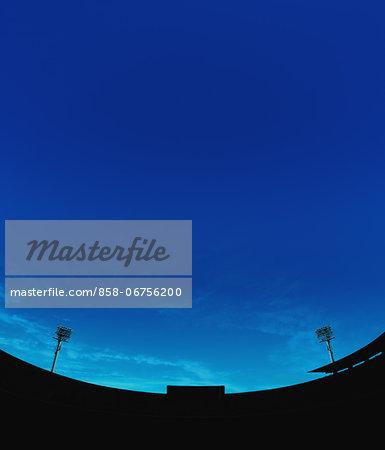 Football Stadium And Blue Sky