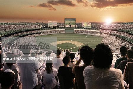 Crowd In Baseball Stadium