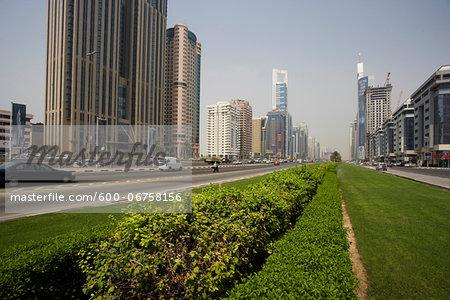 Highrises along Sheikh Zayed Road, Dubai, United Arab Emirates