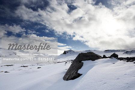 Winter Landscape, Jokulhals, Snaefellsnes Peninsula, Iceland