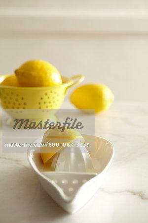 Lemons and Juice Reamer, Studio Shot