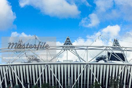 the 2012 summer olympic stadium, stratford, london, UK