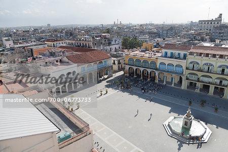VIEW OVER OLD TOWN, HAVANA, HAVANA PROVINCE, CUBA