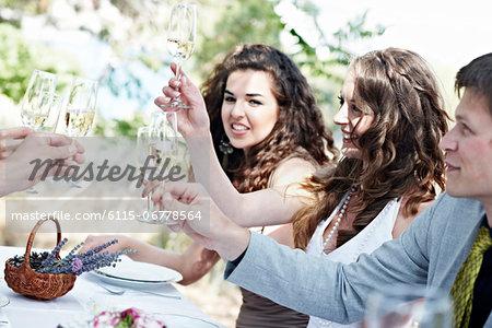 Wedding Celebration Outdoors, Croatia, Europe