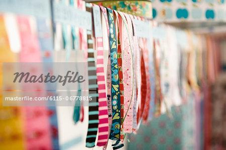 Variety Of Ribbons, Munich, Bavaria, Germany, Europe