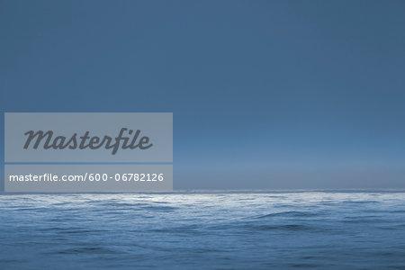 The Atlantic Ocean at dusk.