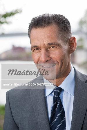 Close-up portrait of mature businessman