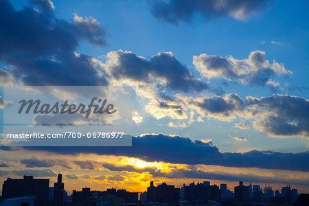 Sunset in Big Sky, New York City, New York, USA