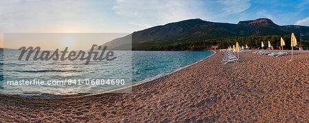 Zlatni Rat Beach at sunset, Bol, Brac Island, Dalmatian Coast, Adriatic, Croatia, Europe