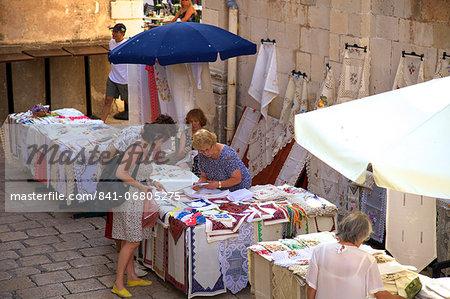 Street stalls, Dubrovnik, Croatia, Europe