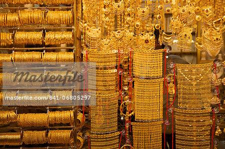 Gold souk, Dubai, United Arab Emirates, Middle East