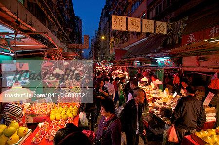 Street Market, Hong Kong, China, Asia