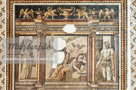 Mosaic of the abandoned Ariadne, 2nd to 3rd century AD, Hatay Archaeology Museum, Antioch, Hatay province, Southwest Turkey, Anatolia, Turkey, Asia Minor, Eurasia