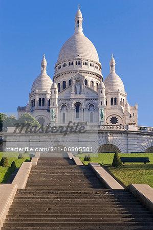 Basilica Sacre Coeur, Montmartre, Paris, France, Europe