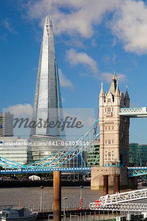 The Shard and Tower Bridge, London, England, United Kingdom, Europe