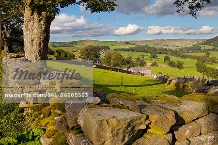 Farm near Burnsall, Yorkshire Dales National Park, Yorkshire, England, United Kingdom, Europe