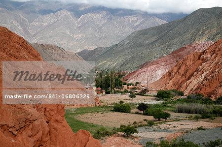 Landscape from the Camino de los Colorados trail around Purmamarca, Quebrada de Humahuaca, UNESCO World Heritage Site, Jujuy Province, Argentina, South America
