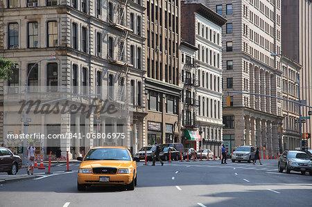 Street scene, Tribeca, Manhattan, New York City, United States of America, North America