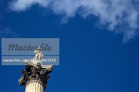 Nelson's Column, Trafalgar Square, London, England, United Kingdom, Europe