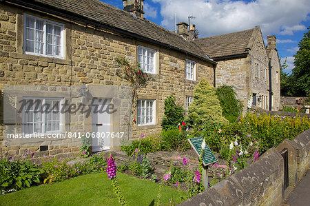Plague cottages, Eyam, Derbyshire, England, United Kingdom, Europe