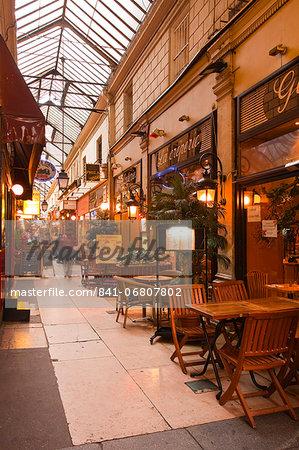 Passage des Panoramas in central Paris, France, Europe