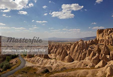 Rock formation near Goreme, Cappadocia, Anatolia, Turkey, Asia Minor, Eurasia