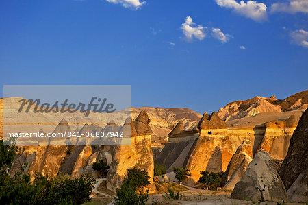 Cappadocia landscape, Cavusin, (Pasabag), near Zelve, Anatolia, Turkey, Asia Minor, Eurasia