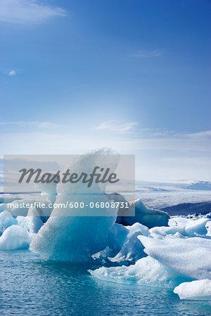 Icebergs in Jokulsarlon, South Iceland, Iceland