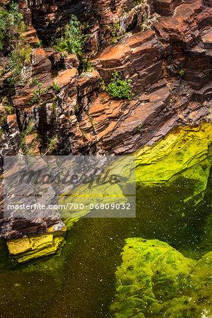 High Angle View of Joffre Gorge, Karijini National Park, The Pilbara, Western Australia, Australia