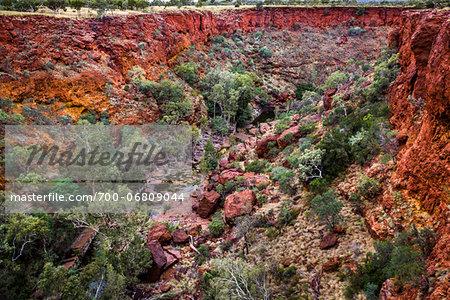 Overview of Dales Gorge, Karijini National Park, The Pilbara, Western Australia, Australia
