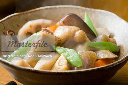 Japanese-style chicken stew