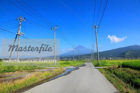 Mount Fuji and road, Shizuoka Prefecture