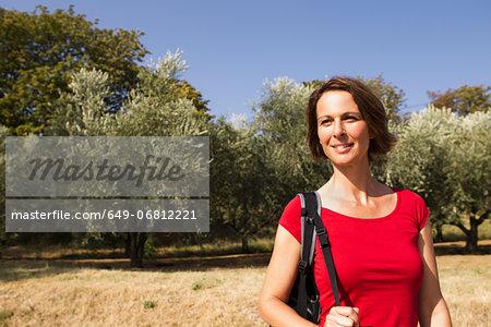 Woman in olive grove, Groznjan, Istria, Croatia
