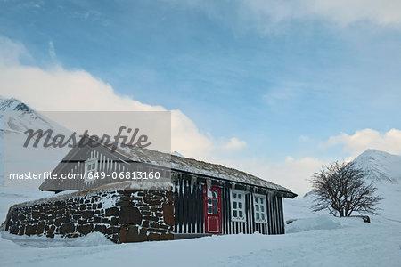 Chalet exterior, Klaengsholl, Skidadalur, Dalvik, Iceland
