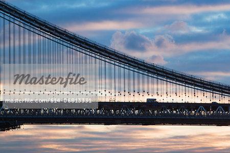 Detail of Manhattan bridge, New York City, USA